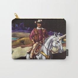 Black Velvet John Wayne Riding a Unicorn Carry-All Pouch