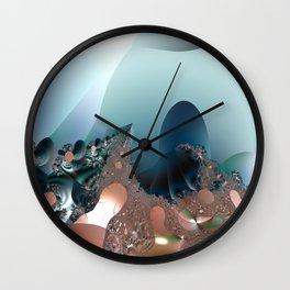 Hiding in a Fantasy Waterworld -- Fractal art by Twigisle at Society6 Wall Clock