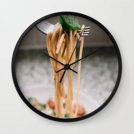 Italy Photography - Delicious Italian Spaghetti Wall Clock