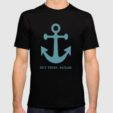 Hey There, Sailor Black MEDIUM Mens Fitted Tee