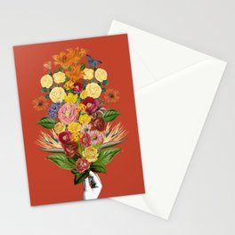Botanical Red Stationery Cards