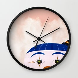 Sneaky clown Wall Clock