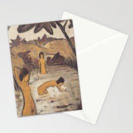 Drei badende im Teich (1912) Stationery Cards