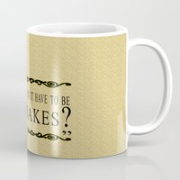 indiana jones Mugs featuring Indiana Jones- Why Did it have to be Snakes? by margybear
