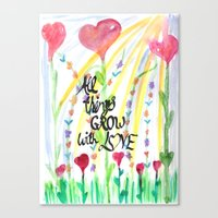 love quotes Canvas Prints featuring Love Quotes by Just Creative Julia