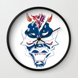 Blue Demon Wall Clock