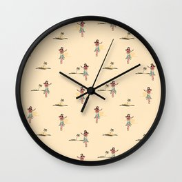 Tropical Vibes - Hula Dancer Sand Wall Clock