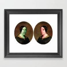 The Vitruvian Sisters (collage) Framed Art Print