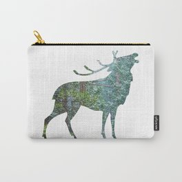Elk Silhouette with Yosemite Snowfall Inlay Carry-All Pouch