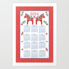 2014 Dala Horse Calendar Art Print