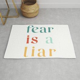 Fear Is A Liar Rug
