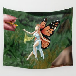 Monarch Fairy Wall Tapestry