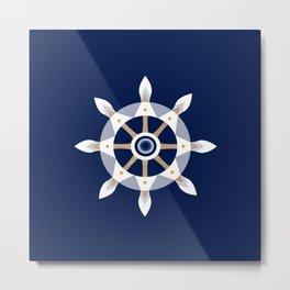 Nautical Rudder Metal Print