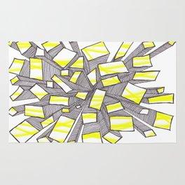 Yellow Fragmentation Rug