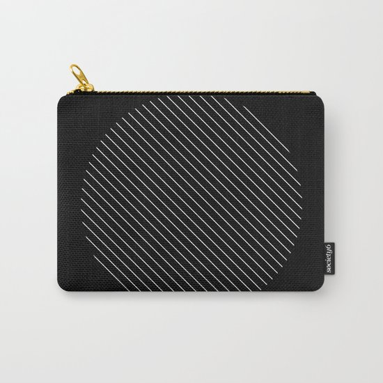 Tilt - Black and White Minimalism Abstract Carry-All Pouch