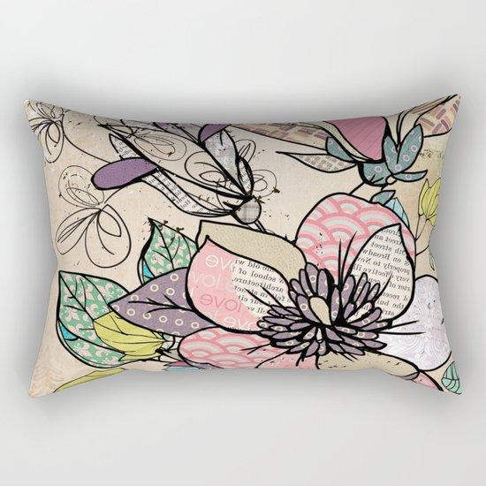 Paper Flowers #5 Rectangular Pillow