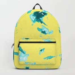 Yellow floral print Backpack