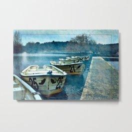 Boats in blue Metal Print