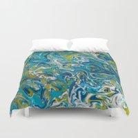 aquarius Duvet Covers featuring Aquarius by Chantalle Kryl Art