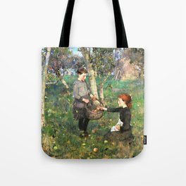 12,000pixel-500dpi - Sir James Guthrie - In the Orchard - Digital Remastered Edition Tote Bag