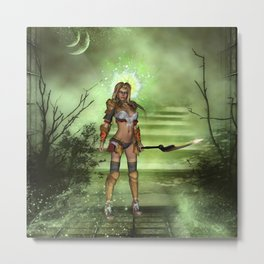 Wonderful fantasy fighter Metal Print