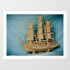 Sailing Into The New Year Art Print