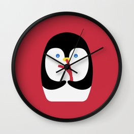 Penguin + Licorice Wall Clock