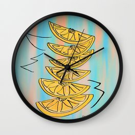 A Stack of Lemon Slices - Modern Wall Clock