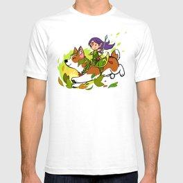 Corgi and Fairy - purple ver T-shirt