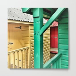 Beach Huts 37A Metal Print