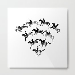 Connected to Showjumping (Black) Metal Print
