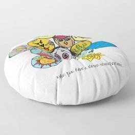 Dozen Full of Ideas Floor Pillow