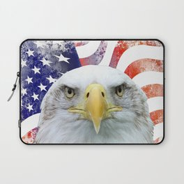 American Flag and Bald Eagle Laptop Sleeve