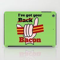 bacon iPad Cases featuring Bacon by mailboxdisco
