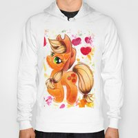 my little pony Hoodies featuring AppleJack My Little Pony Watercolor by JerZy