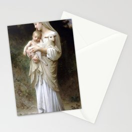 "William-Adolphe Bouguereau ""L'Innocence (Innocence)""(1893) Stationery Cards"