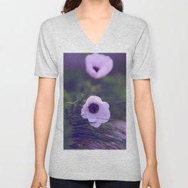 Purple Anemone Unisex V-Neck