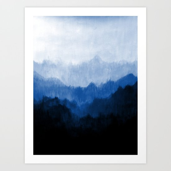 Mists - Blue Art Print