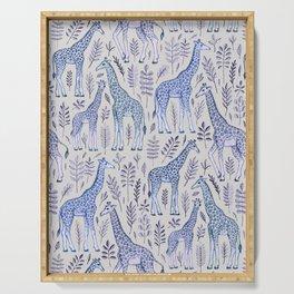 Blue Giraffe Pattern Serving Tray