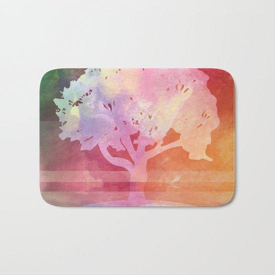 Color Tree white Bath Mat