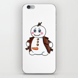 flashing snowman Flasher Present Winter Christmas iPhone Skin