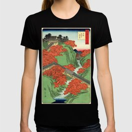 Hiroshige Temple & Mountains T-shirt