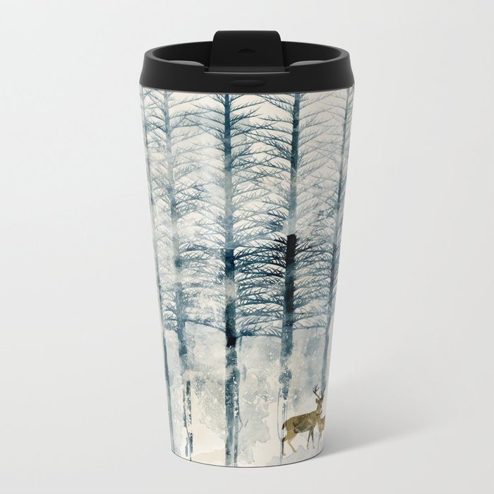 the blue forest Travel Mug