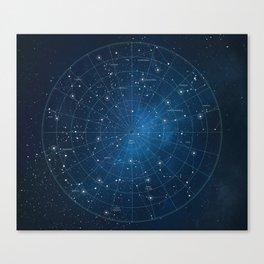 Constellation Star Chart Canvas Print