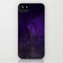 Ultraviolet marble iPhone Case