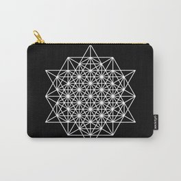 White star tetrahedron Carry-All Pouch