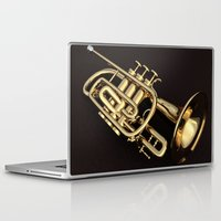 trumpet Laptop & iPad Skins featuring trumpet by Ancello