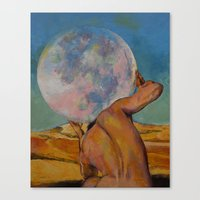 atlas Canvas Prints featuring Atlas by Michael Creese