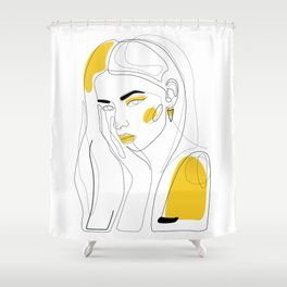 In Gold Shower Curtain