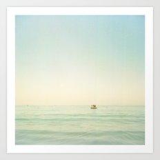 Summer Pontoon Art Print